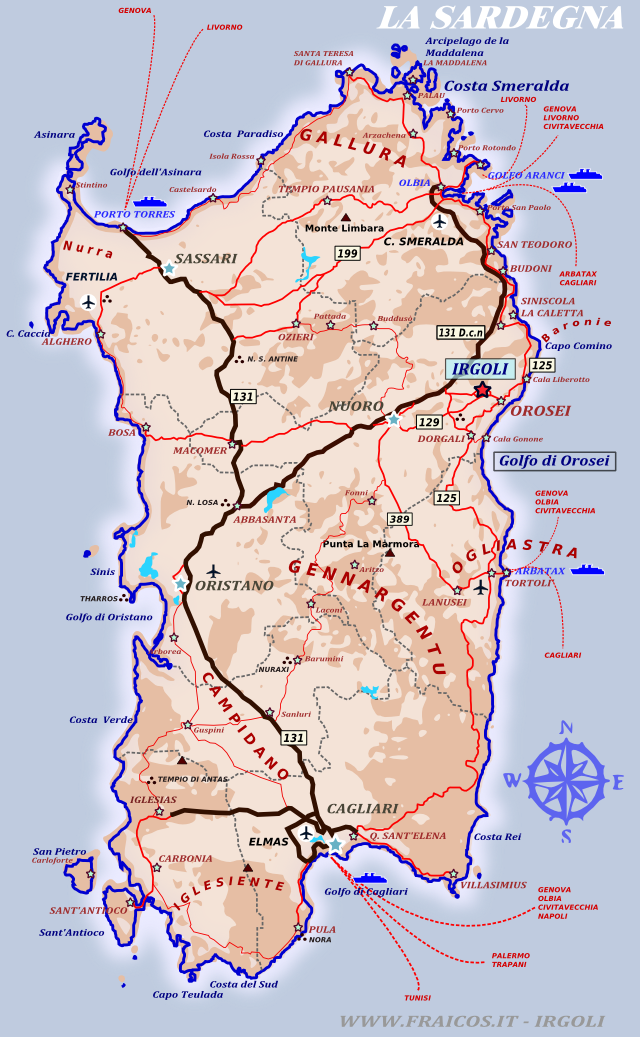 Cartina Sardegna Orientale.Trekking A Irgoli